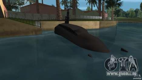 Vice City Submarine with face pour GTA Vice City sur la vue arrière gauche