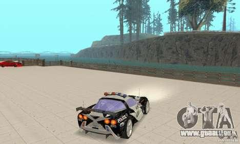 Chevrolet Corvette C6 Rough (NFS MW) pour GTA San Andreas vue de droite