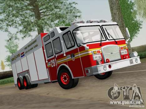 E-One F.D.N.Y Fire Rescue 1 für GTA San Andreas linke Ansicht