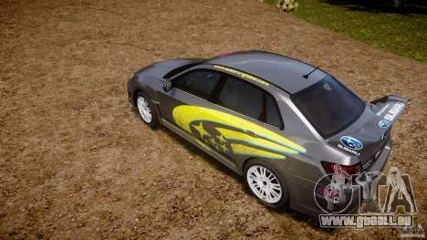 Subaru Impreza WRX STi 2011 Subaru World Rally für GTA 4 obere Ansicht