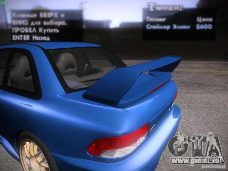 Subaru Impreza 22b Tunable für GTA San Andreas Unteransicht