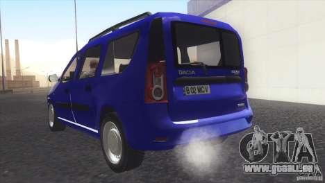 Dacia Logan MCV Facelift pour GTA San Andreas laissé vue