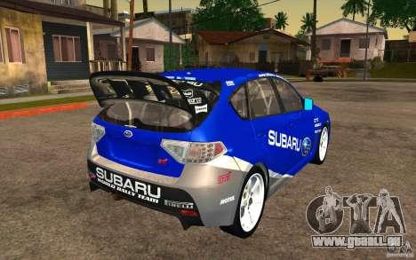 Neue Schallplatten bis Subaru Impreza WRX STi für GTA San Andreas Innenansicht