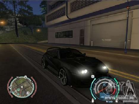 Toyota Supra 2006 Most Wanted pour GTA San Andreas sur la vue arrière gauche