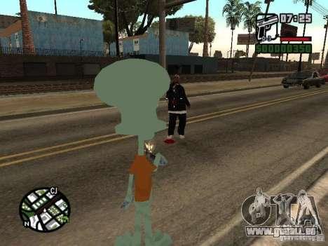 Squidward pour GTA San Andreas septième écran