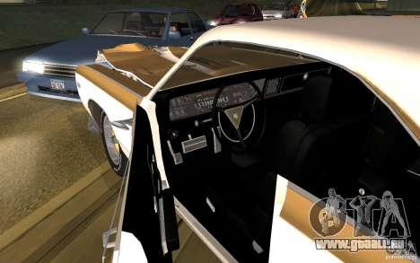 Chrysler 300 Hurst 1970 pour GTA San Andreas vue intérieure