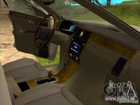 Cadillac DTS 2008 Limousine pour GTA San Andreas vue arrière