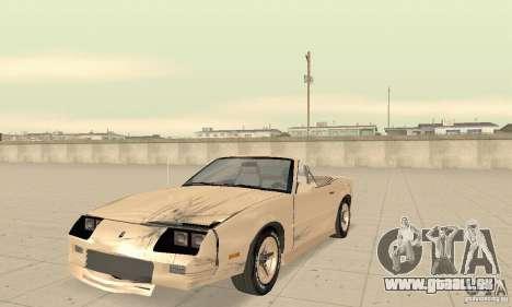 Chevrolet Camaro RS 1991 Convertible pour GTA San Andreas vue de dessus