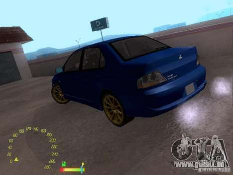 Mitsubishi Lancer EVO BETA pour GTA San Andreas laissé vue