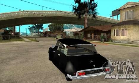 Citroen ID 19 pour GTA San Andreas sur la vue arrière gauche