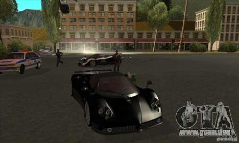 Pagani Zonda F Speed Enforcer BETA für GTA San Andreas Seitenansicht