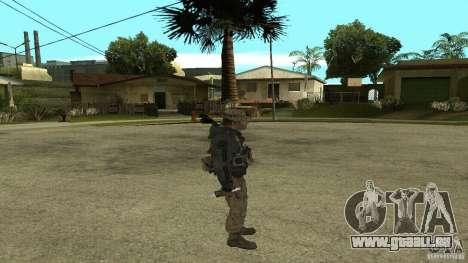 Captain Price pour GTA San Andreas cinquième écran
