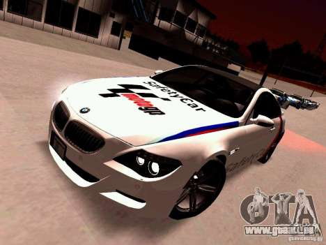 BMW M6 MotoGP SafetyCar pour GTA San Andreas laissé vue