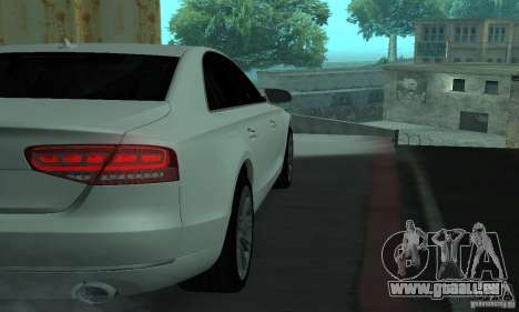 Audi A8 pour GTA San Andreas vue intérieure