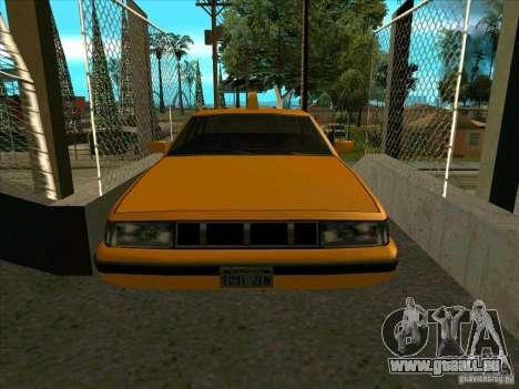 Intruder Taxi pour GTA San Andreas vue arrière