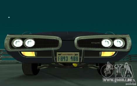 Dodge Coronet Super Bee 1970 pour GTA San Andreas laissé vue