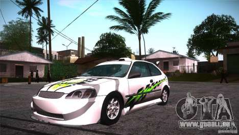 Honda Civic Tuneable für GTA San Andreas Räder