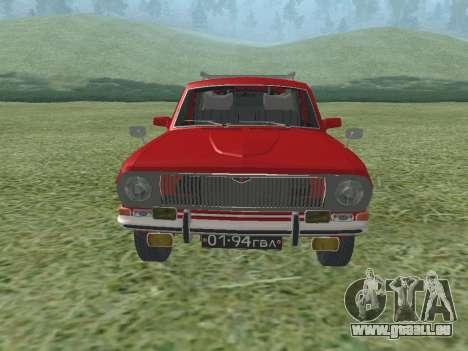Volga GAZ-24 02 pour GTA San Andreas laissé vue