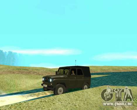 UAZ 31512 pour GTA San Andreas sur la vue arrière gauche