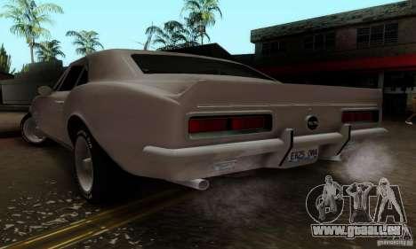 Chevrolet Camaro SS 1967 pour GTA San Andreas laissé vue