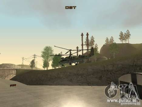 Ka-50 Black Shark für GTA San Andreas Rückansicht