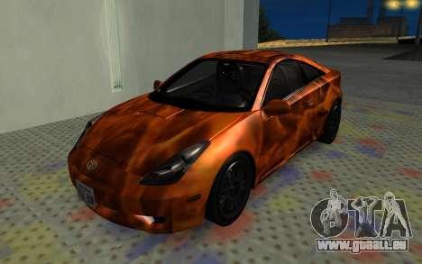 Toyota Celica 2JZ-GTE für GTA San Andreas Innenansicht