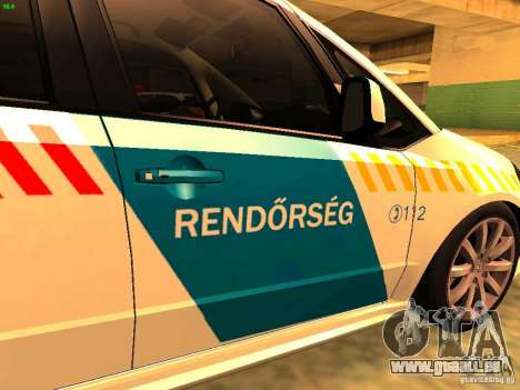 Suzuki SX-4 Hungary Police für GTA San Andreas Rückansicht