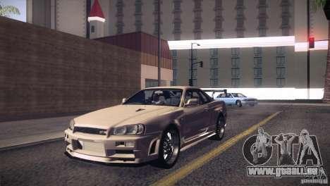 Nissan Skyline R34 für GTA San Andreas Innenansicht