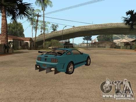Ford Mustang GT 500 pour GTA San Andreas sur la vue arrière gauche
