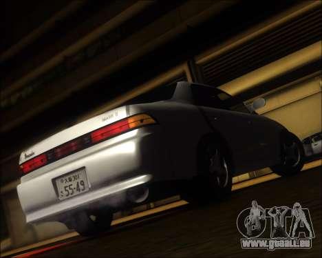 Toyota Mark II GX90 v.1.1 pour GTA San Andreas sur la vue arrière gauche