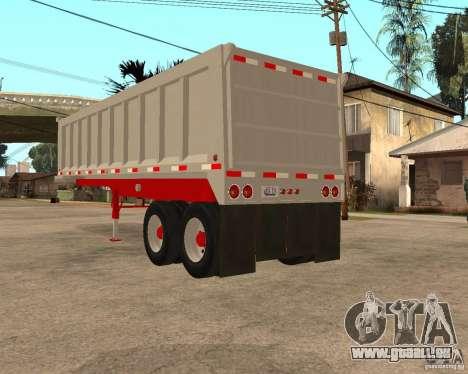 Artict3 Dump Trailer für GTA San Andreas zurück linke Ansicht