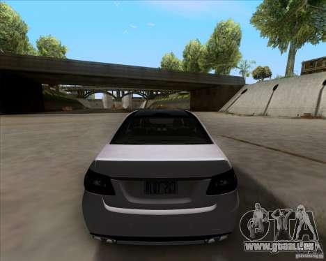Mercedes-Benz E63 AMG V12 TT Black Revel für GTA San Andreas Rückansicht