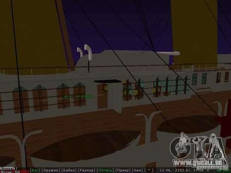 HMHS Britannic für GTA San Andreas Rückansicht