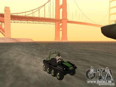 Véhicule tout-terrain Argo Avenger pour GTA San Andreas vue de droite