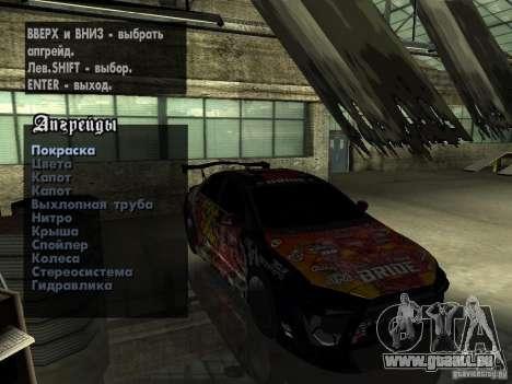Mitsubishi Lancer Evolution X Drift Spec für GTA San Andreas Rückansicht