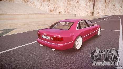 Audi A8 6.0 W12 Quattro (D2) 2002 für GTA 4 obere Ansicht