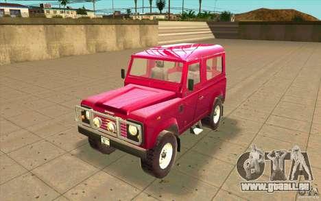 Land Rover Defender 90SW für GTA San Andreas