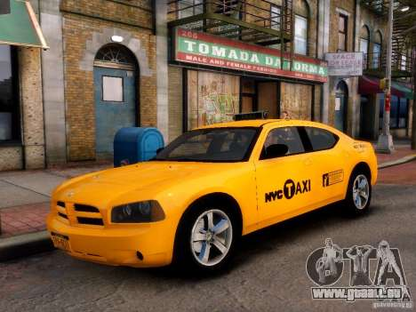 Dodge Charger NYC Taxi V.1.8 für GTA 4 hinten links Ansicht