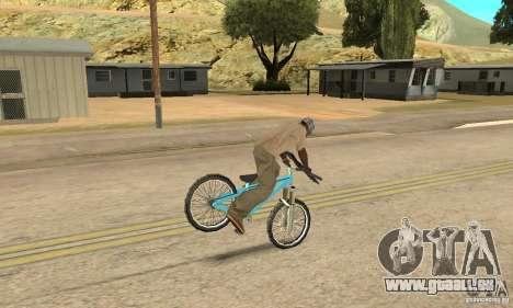 Dirt Jump Bike für GTA San Andreas Innenansicht