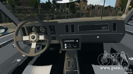 Buick GNX 1987 pour GTA 4 Vue arrière