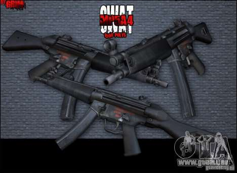 MP5A4 pour GTA San Andreas deuxième écran