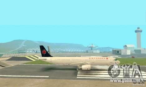 Airbus A321 Air Canada für GTA San Andreas Innenansicht