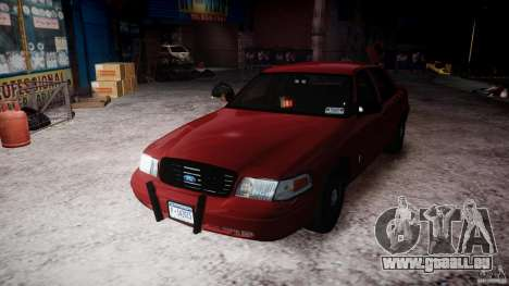 Ford Crown Victoria Detective v4.7 red lights pour GTA 4 est un côté