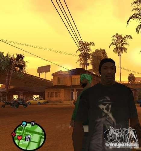 Watchmen Rorschach chemise pour GTA San Andreas deuxième écran
