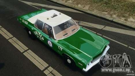 Dodge Monaco 1974 Taxi v1.0 pour GTA 4 roues