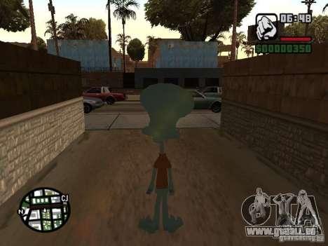 Squidward pour GTA San Andreas quatrième écran