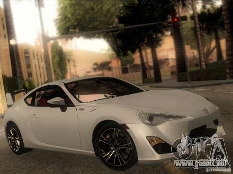 Toyota GT86 2012 pour GTA San Andreas vue intérieure