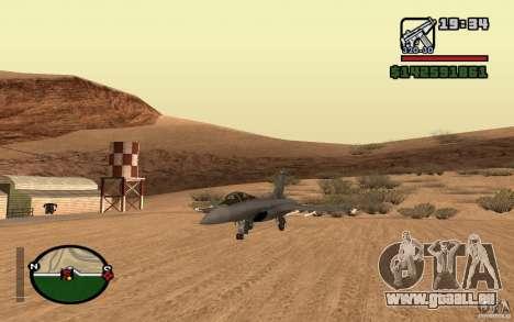 Dassault Rafale M pour GTA San Andreas laissé vue