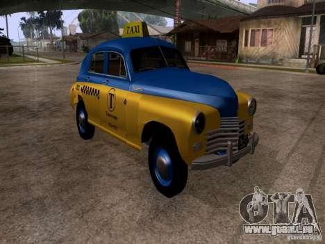 GAZ M20 Pobeda Taxi für GTA San Andreas