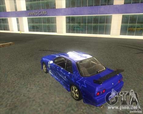 Nissan Skyline R32 GTS-T type-M pour GTA San Andreas vue de dessus